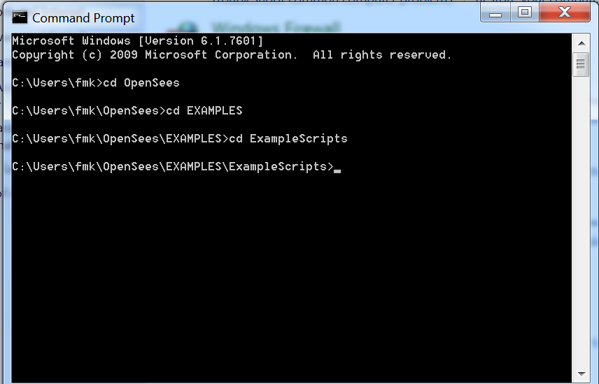Getting Started with OpenSees -- Run OpenSees - OpenSeesWiki
